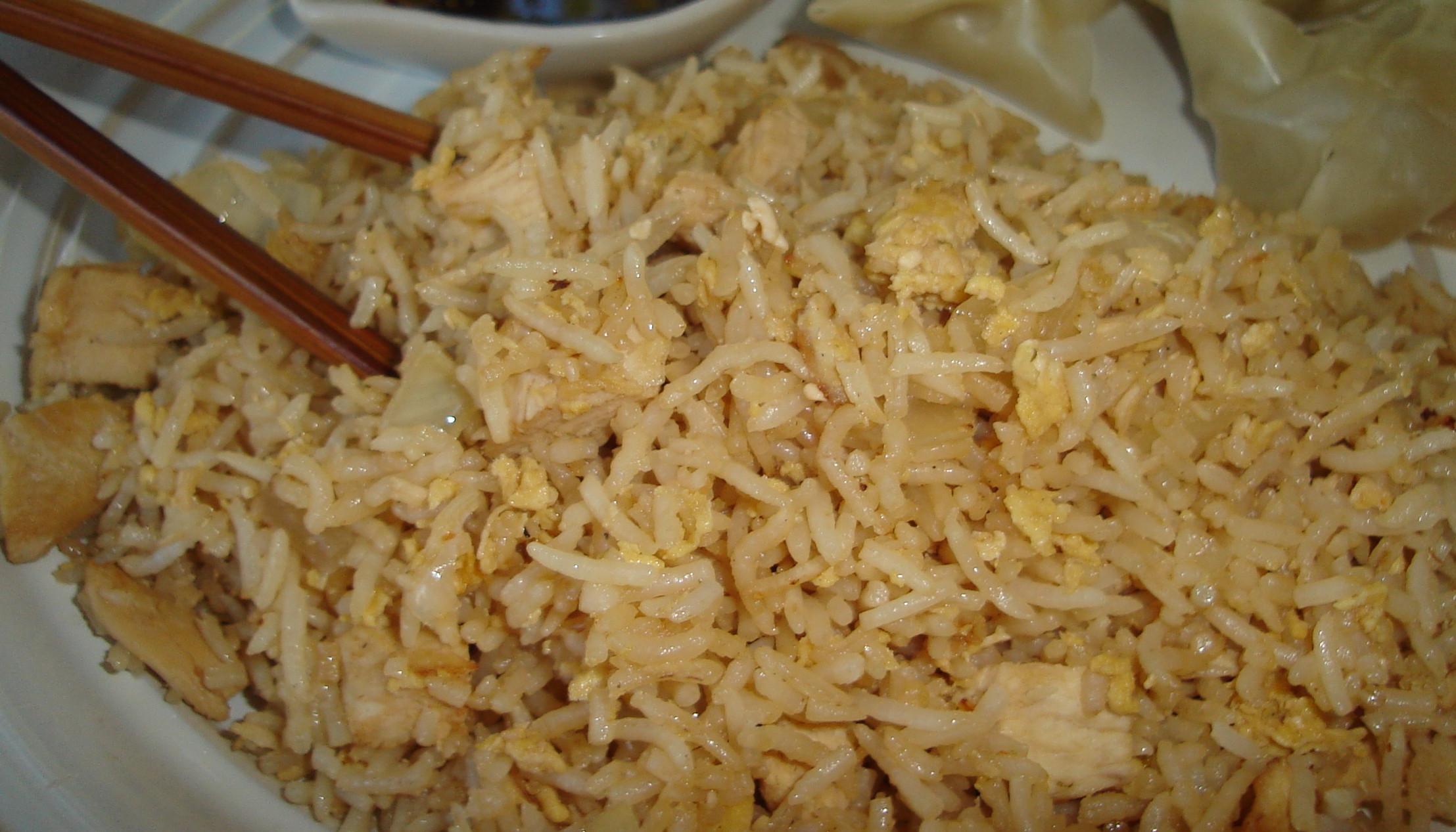 Plain Fried Rice  plain fried rice without egg