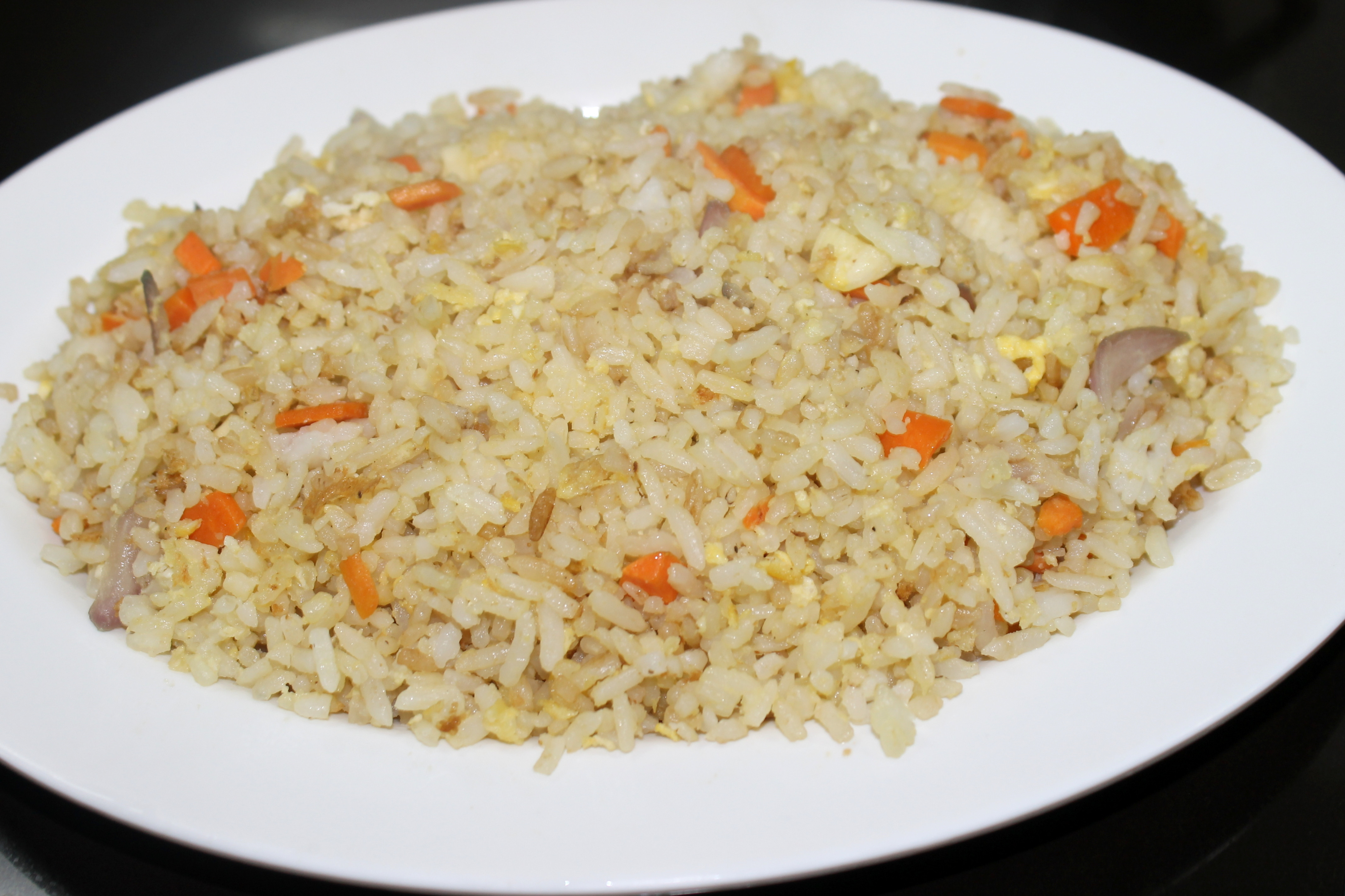 Plain Fried Rice  How to Make Easy Fried Rice Using Leftover Rice 14 Steps