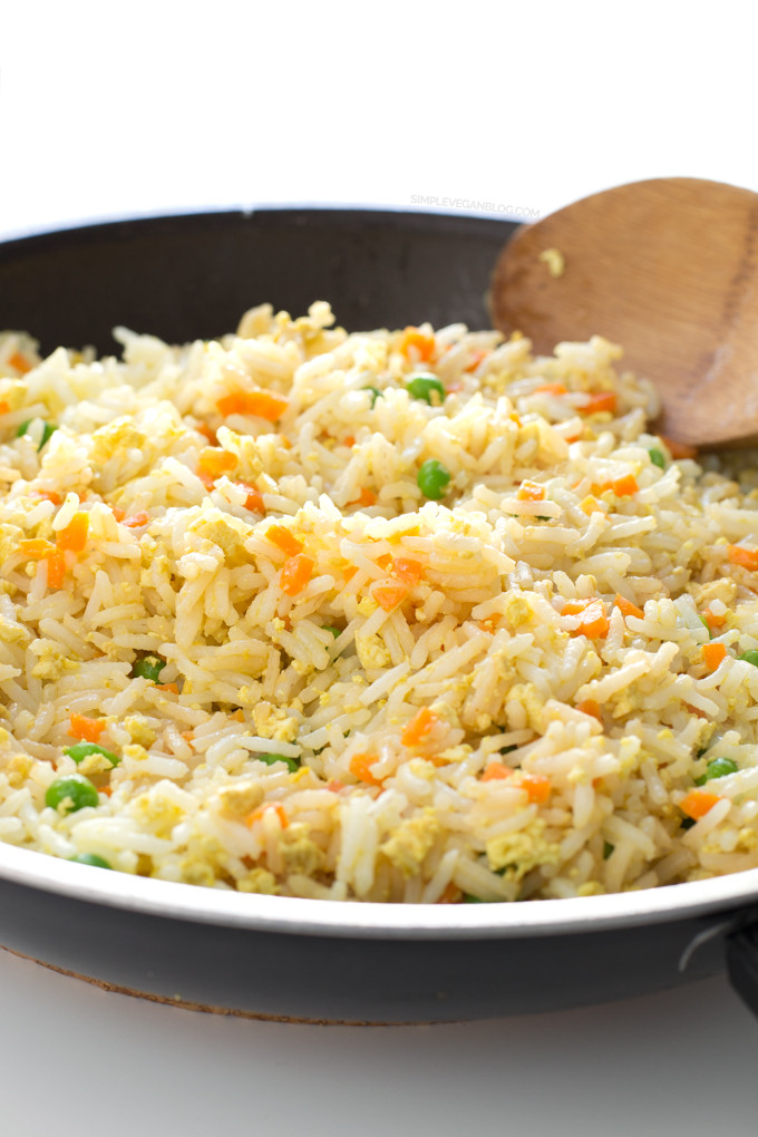 Plain Fried Rice  Simple Vegan Fried Rice