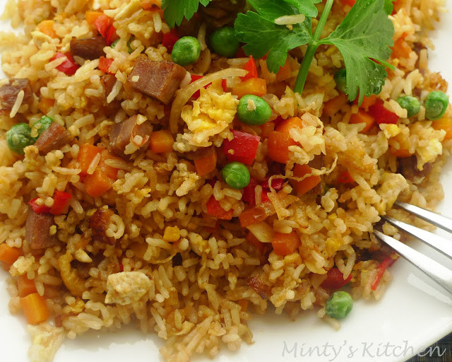 Plain Fried Rice  Minty s Kitchen Simple Fried Rice