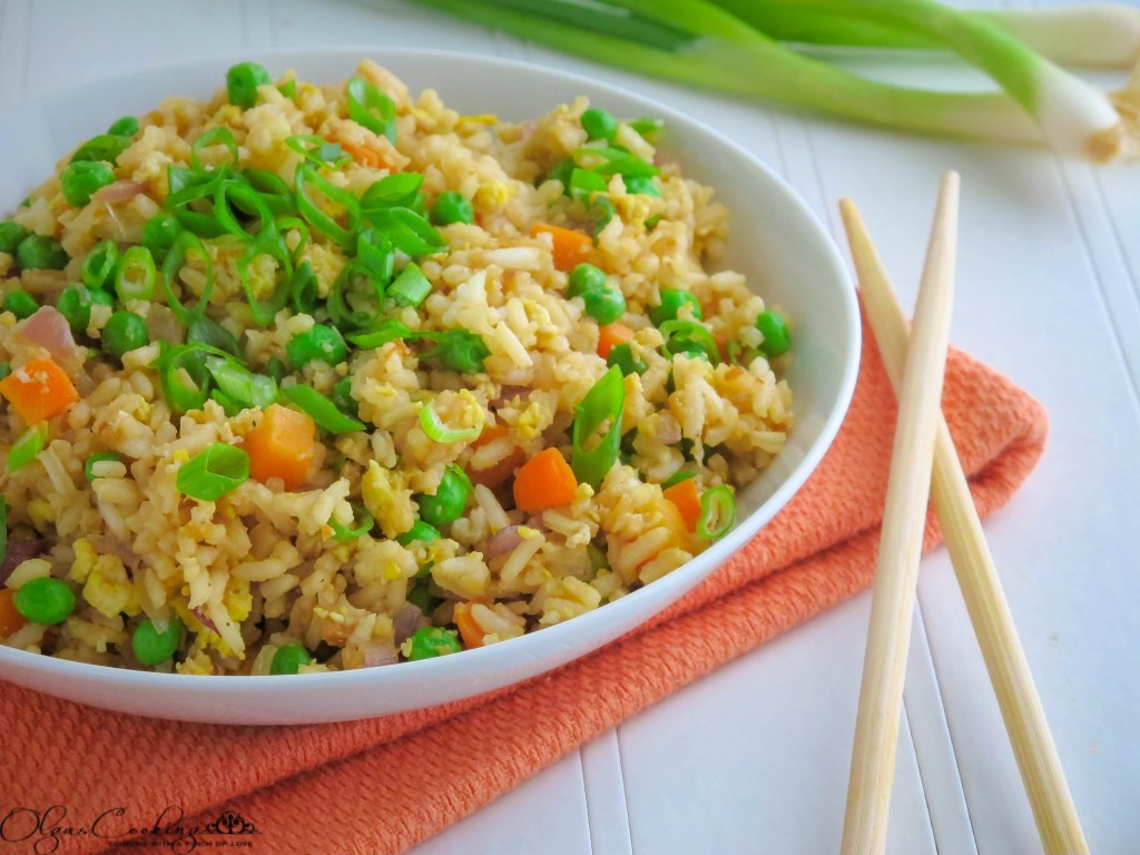 Plain Fried Rice  Simple Fried Rice OlgasCooking