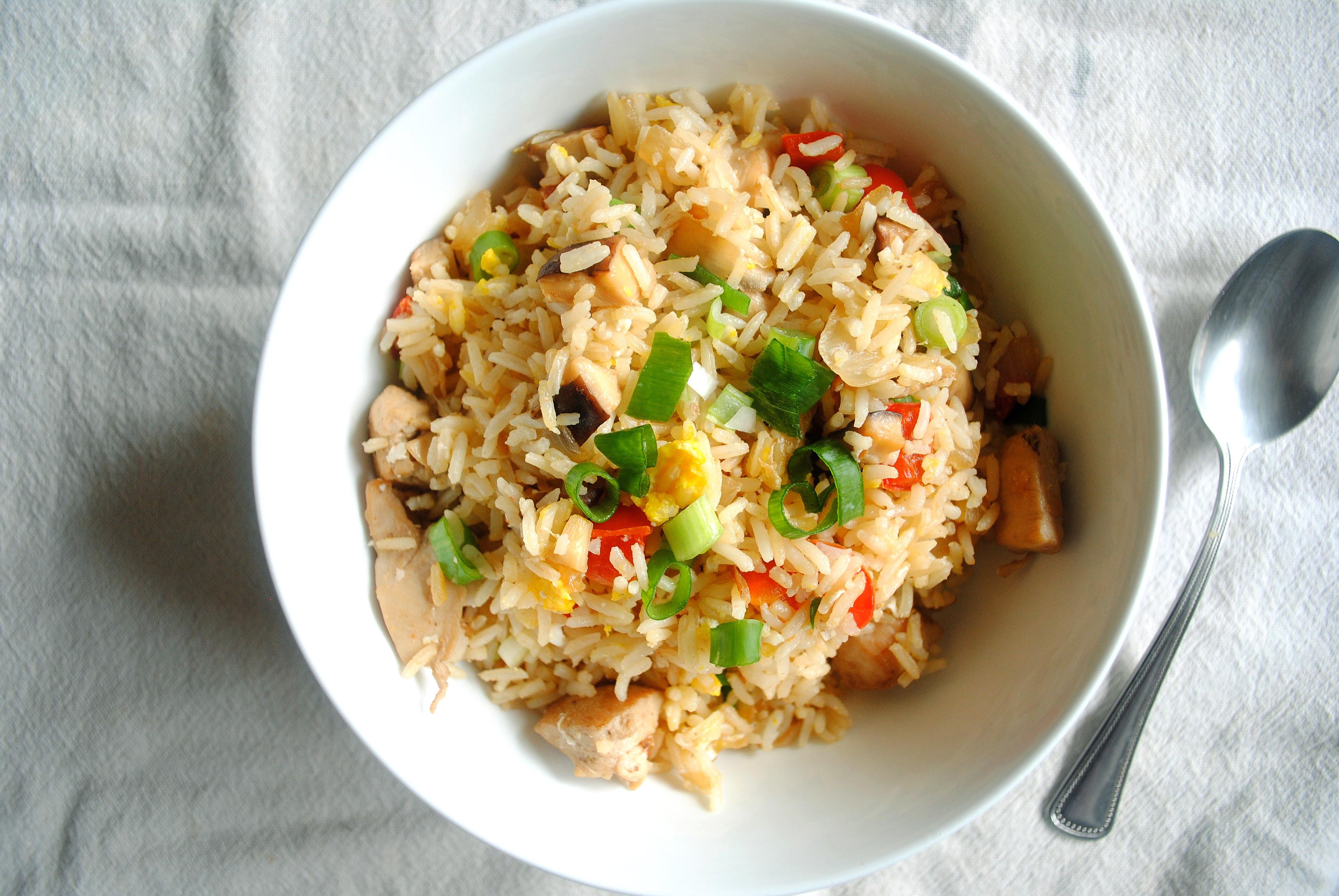 Plain Fried Rice  Chicken Fried Rice Yin and Yolk