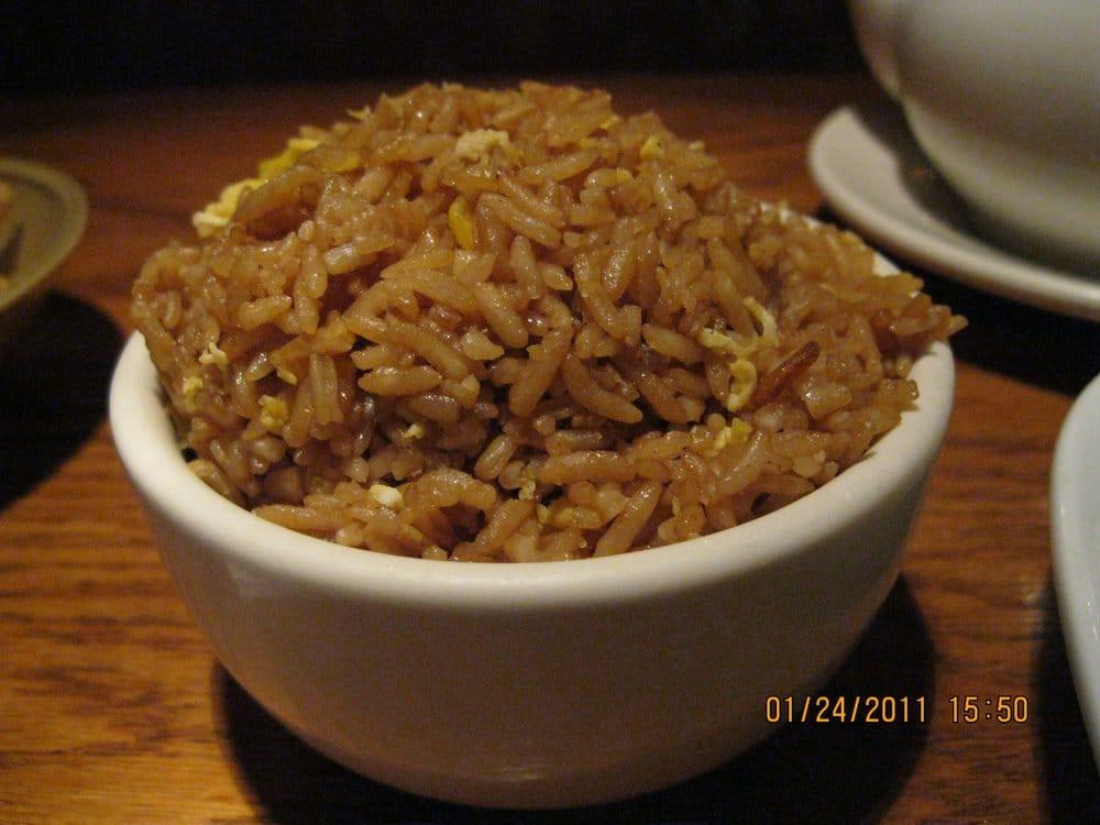 Plain Fried Rice  Plain fried rice that ac panied the Kuon Po Chicken