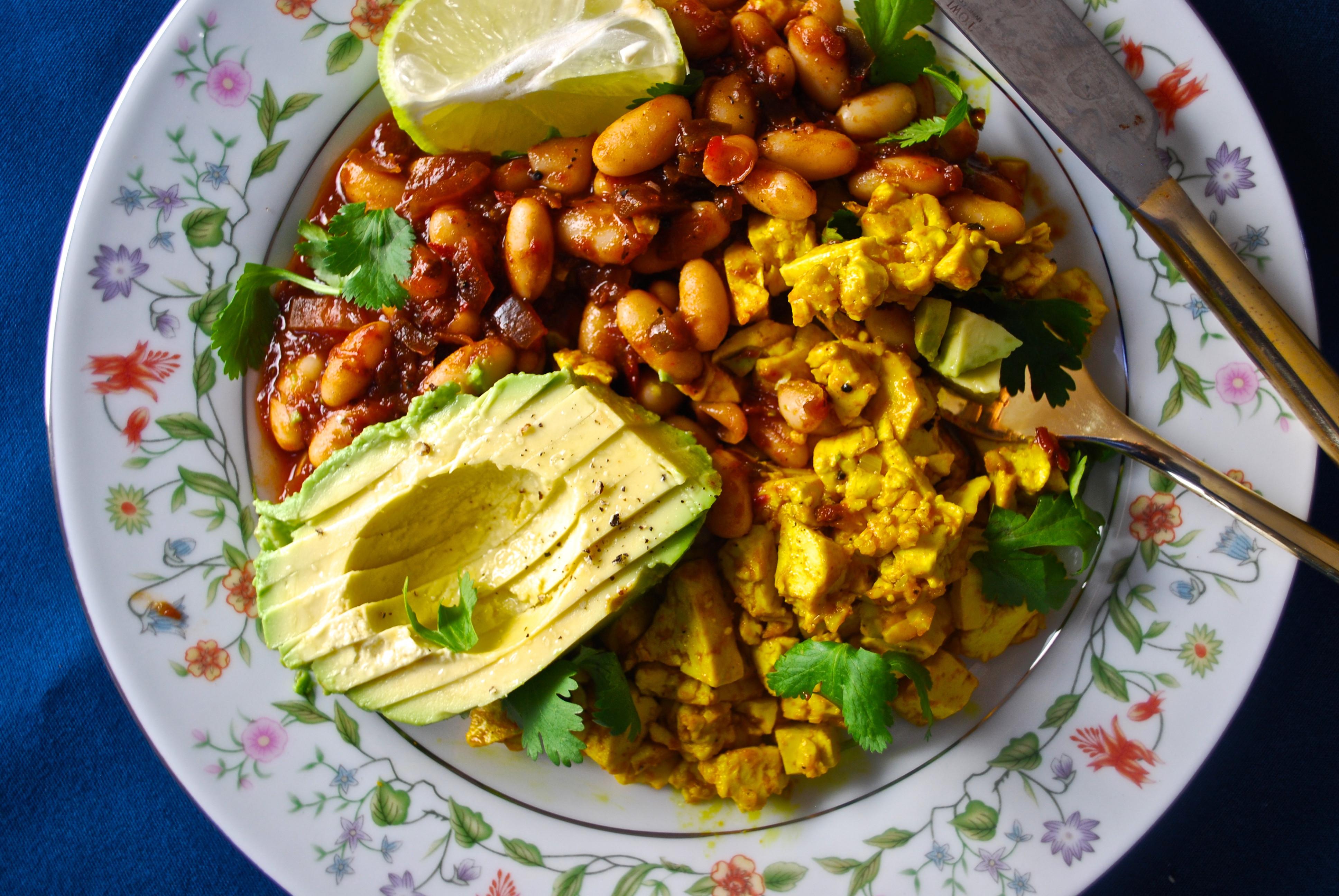 Plant Based Breakfast Recipes  Tofu Scramble & Chipotle Beans Little Miss Bakery
