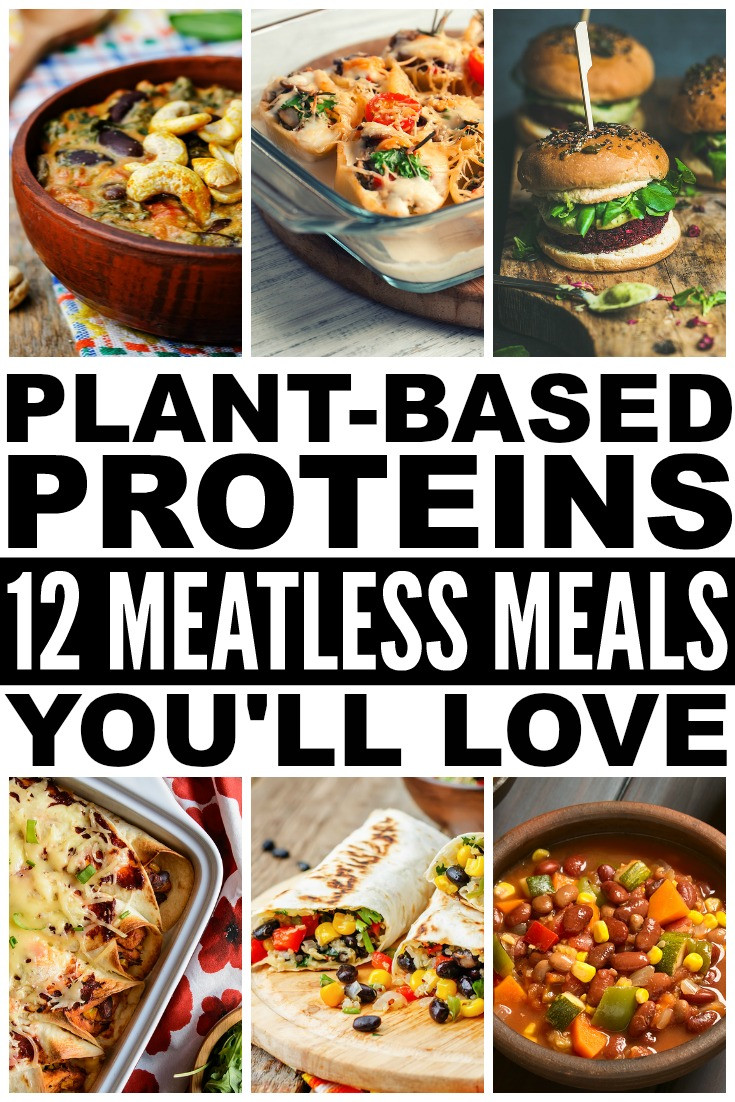Plant Based Dinner Recipes  Plant Based Proteins 12 Meatless Recipes That Are