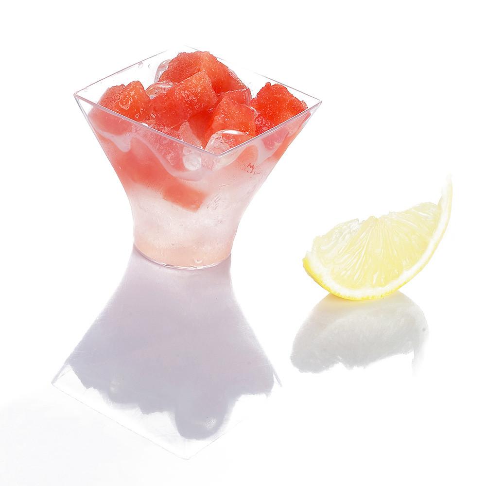 Plastic Dessert Cups  100 LOTUS DISPOSABLE DESSERT CUPS PLASTIC SHOT GLASS FOR