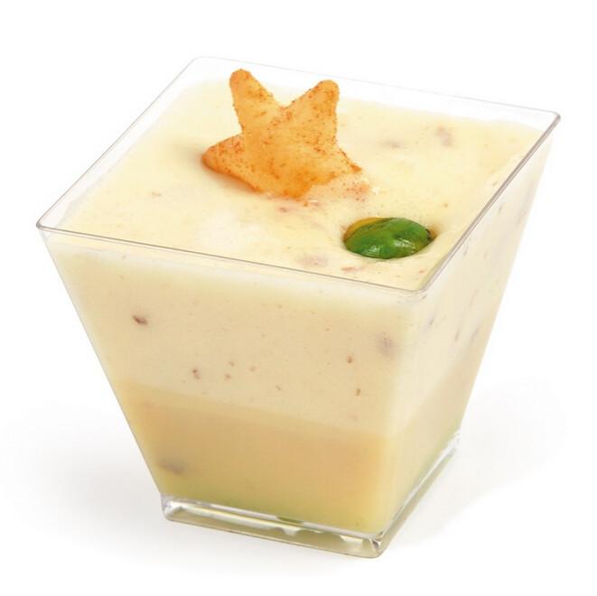 Plastic Dessert Cups  100 Sets Square Cup 8oz Clear Tasting Sample Shot Glasses