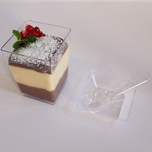 Plastic Dessert Cups  SupaCute Desserts Plastic Dessert Cups Set of 24 Clear