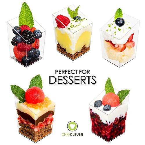 Plastic Dessert Cups  Mini Dessert Cups Appetizer Bowls with Recipe e Book