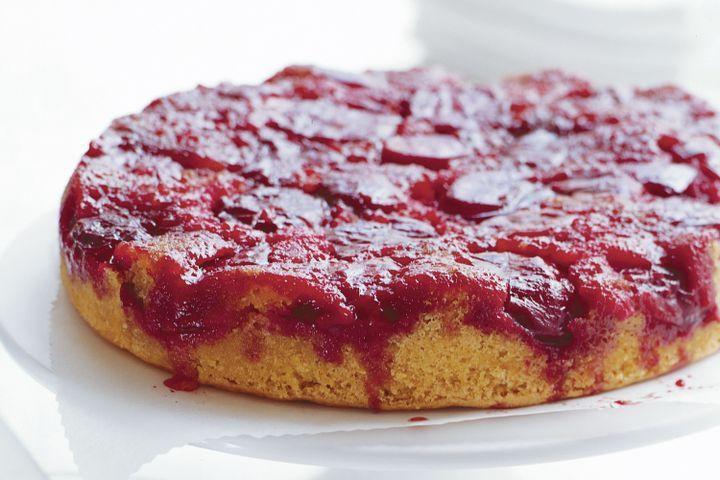 Plum Dessert Recipes  Upside down plum cake