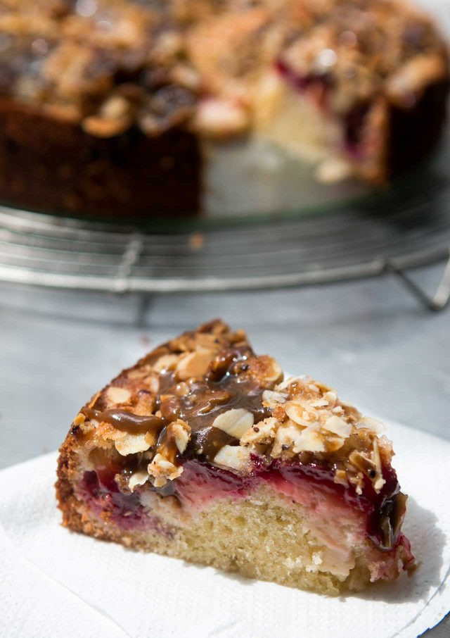 Plum Dessert Recipes  Spiced Plum Cake with Toffee Glaze