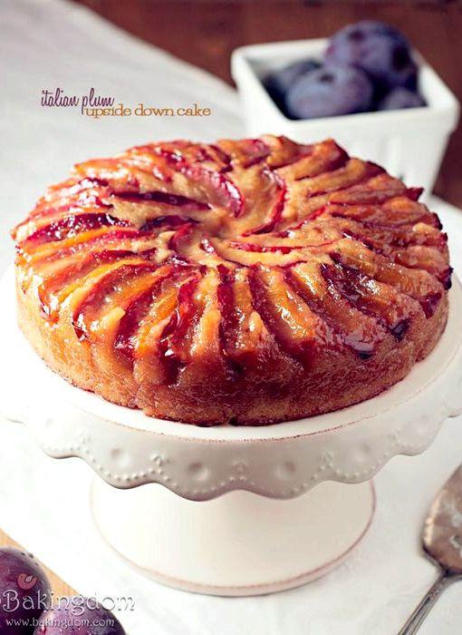 Plum Dessert Recipes  Plum upside down cake recipe uk