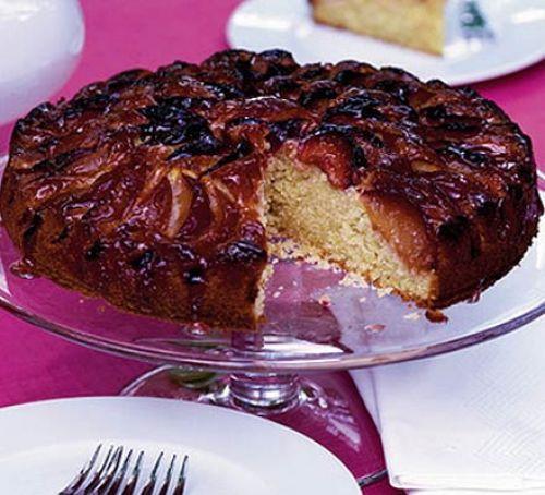 Plum Dessert Recipes  Glazed plum cake recipe