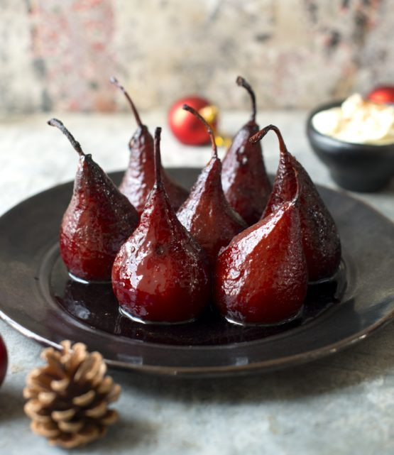 Poached Pears Desserts  Mulled Wine Poached Pears by Nadia Lim