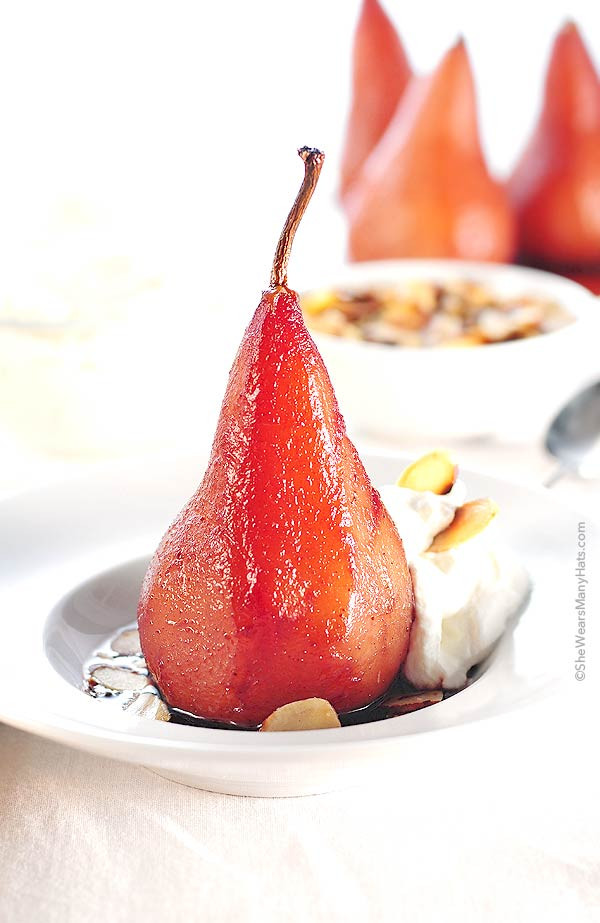 Poached Pears Desserts  Poached Pears with Pinot