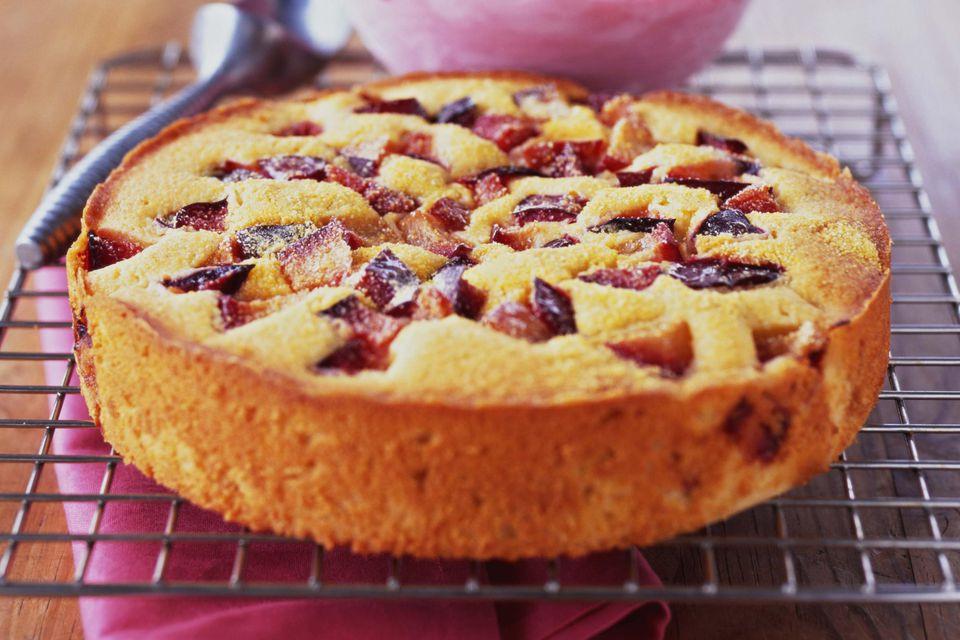 Polish Dessert Recipies  Polish Plum Cake Placek z Sliwkami Recipe