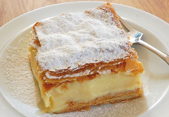 "Polish Dessert Recipies  Poland Kremówka Papieska ""Papal"" Cream Cake"