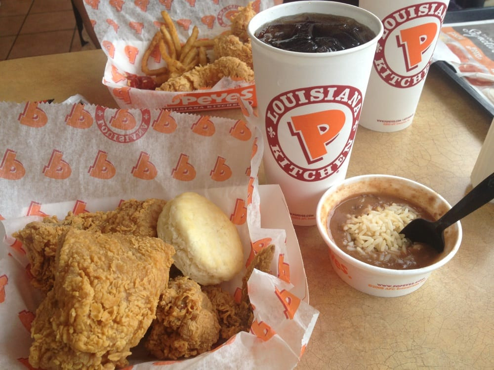 Popeyes Red Beans And Rice  Popeyes chicken and red beans and rice Mmmmm Yelp