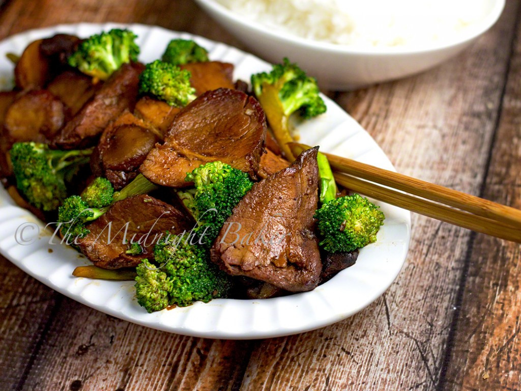 Pork And Broccoli  Chinese BBQ Pork with Broccoli The Midnight Baker