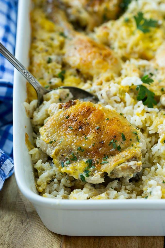 Pork And Rice Casserole  creamy rice casserole