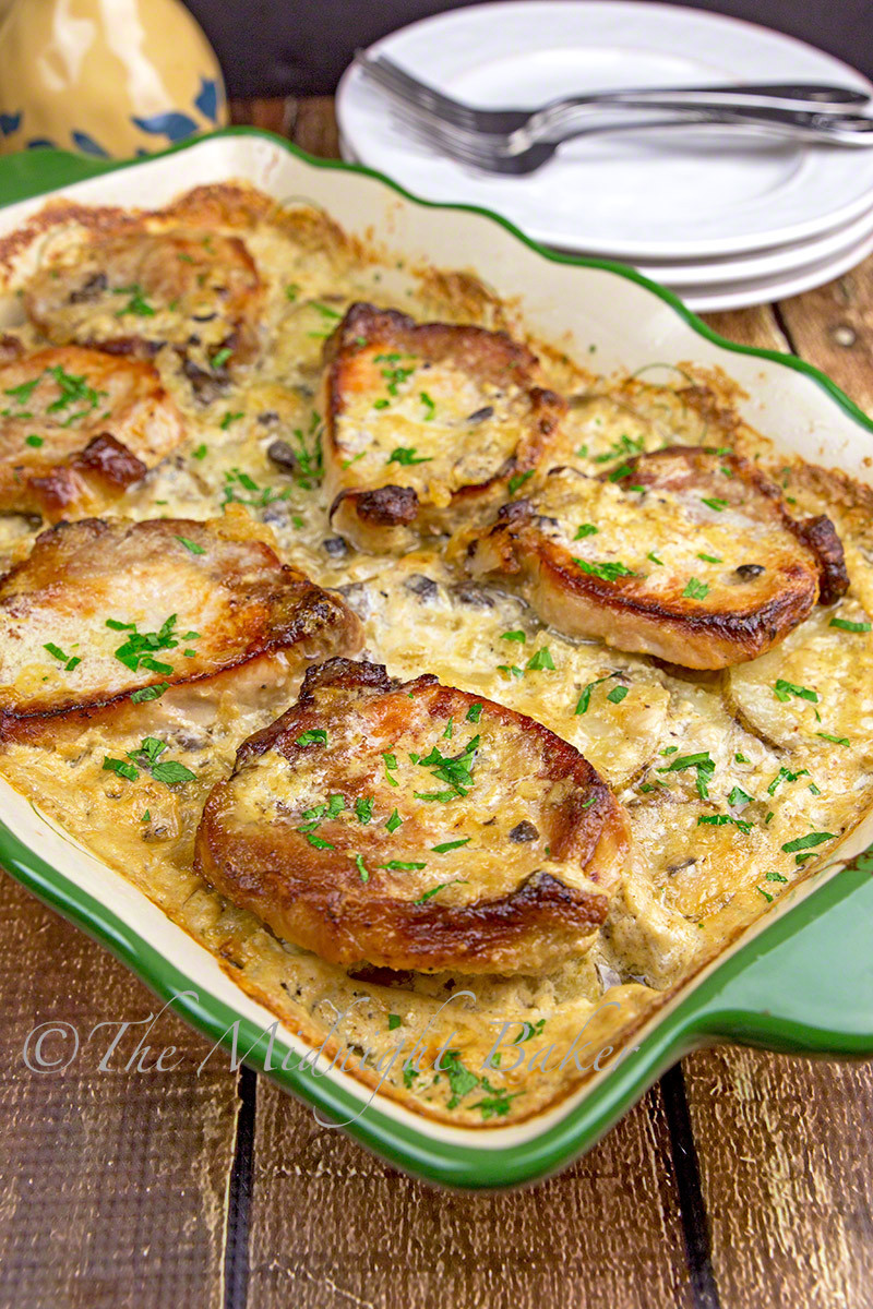 Pork Casserole Recipies  Pork Chops & Scalloped Potatoes Casserole The Midnight Baker