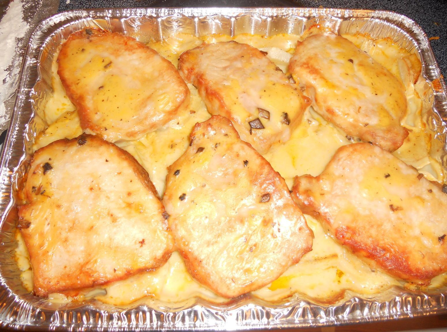 Pork Casserole Recipies  Pork Chop Potato Casserole Recipe