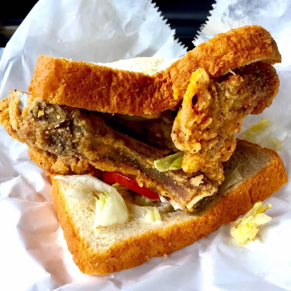 Pork Chop Sandwiches  Restaurant Review K Hall & Sons Produce