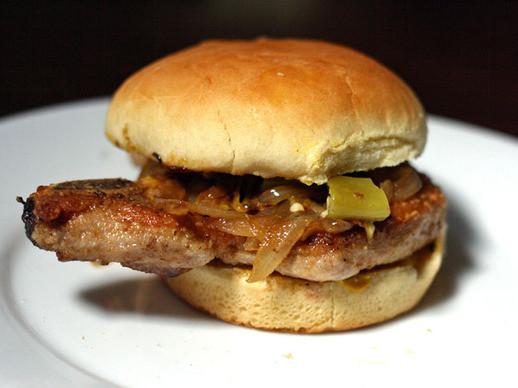 Pork Chop Sandwiches  Bone In Pork Chop Sandwich