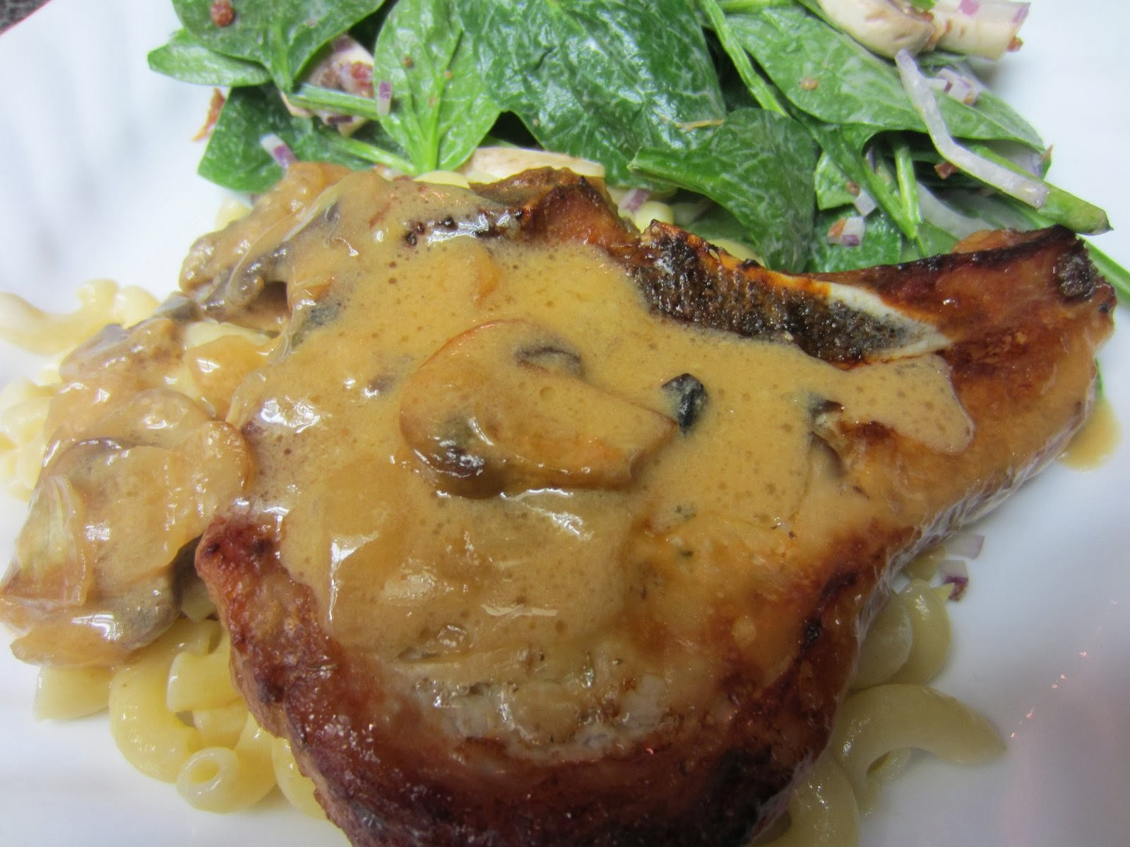 Pork Chops And Mushrooms  Mushroom Baked Pork Chops