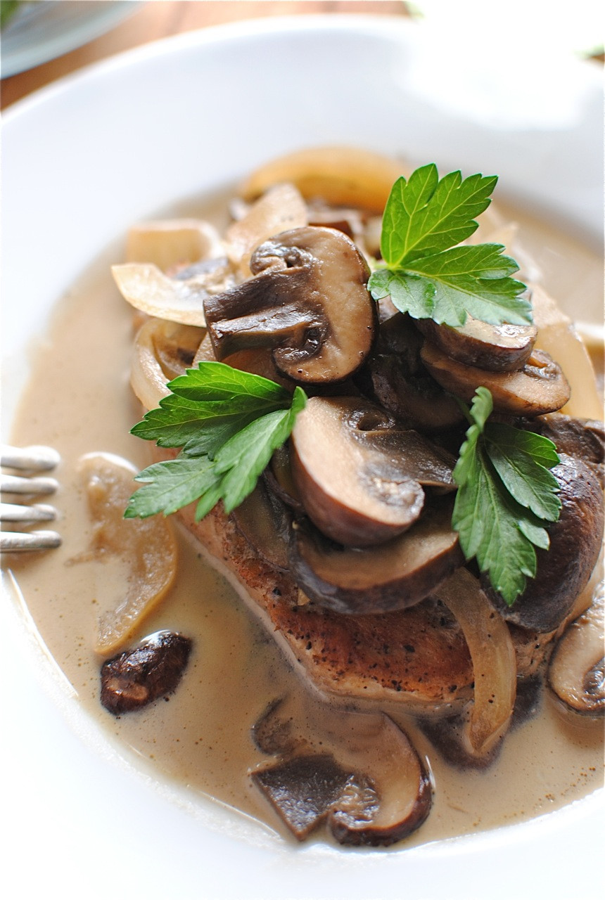 Pork Chops And Mushrooms  Pork Chops and Mushrooms in a White Wine Sauce