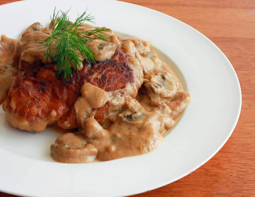 Pork Chops And Mushrooms  Pork Chops With Mushrooms Dill And Sour Cream Sauce