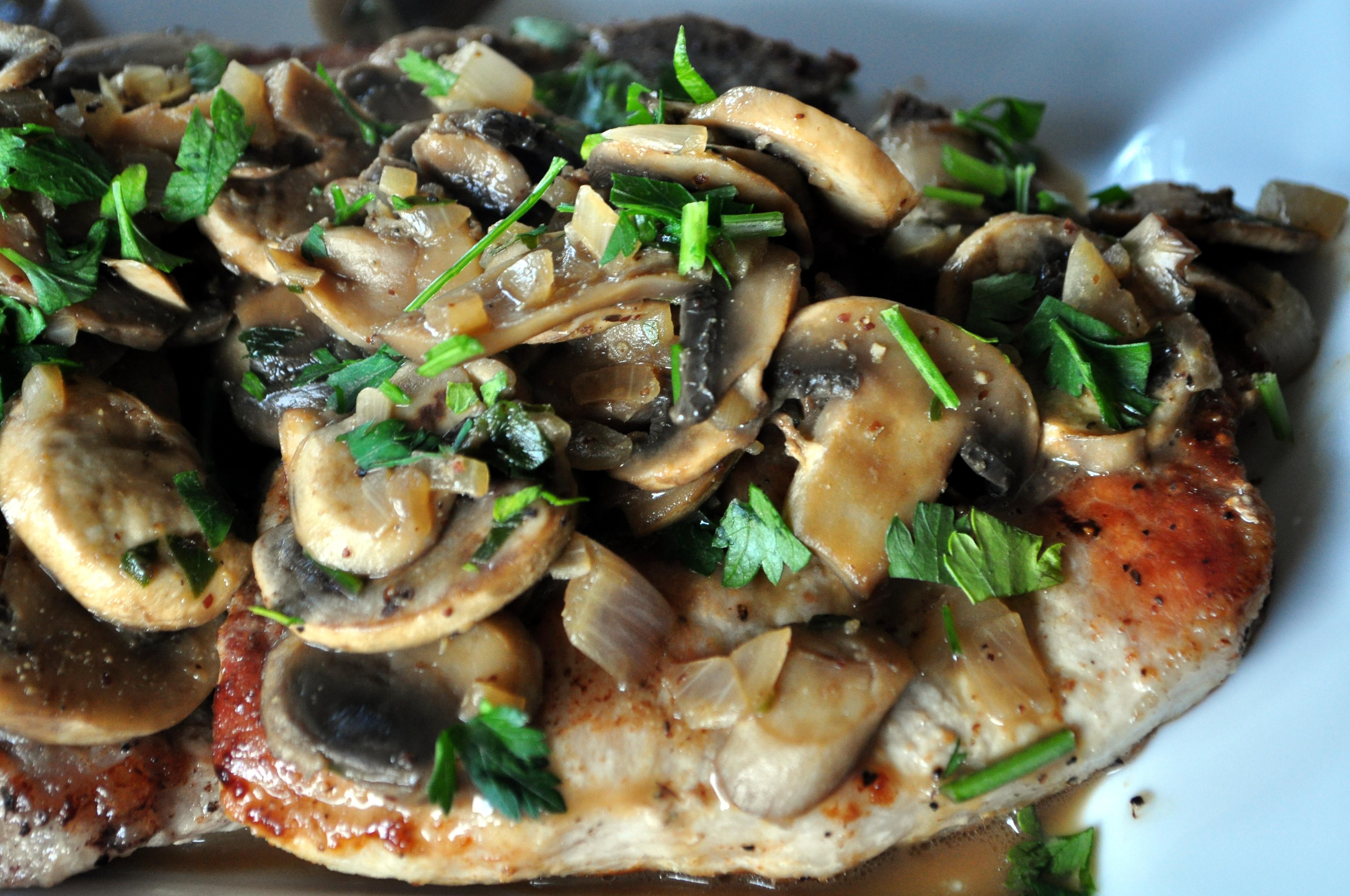 Pork Chops And Mushrooms  pork chops with mushrooms