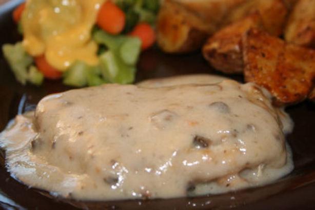 Pork Chops And Rice Cream Of Mushroom  Pork Chops Smothered In Mushroom Gravy Recipe Food