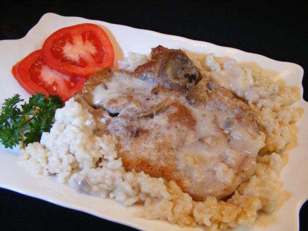 Pork Chops And Rice Cream Of Mushroom  Baked Pork Chops And Instant Rice With Cream Mushroom Soup