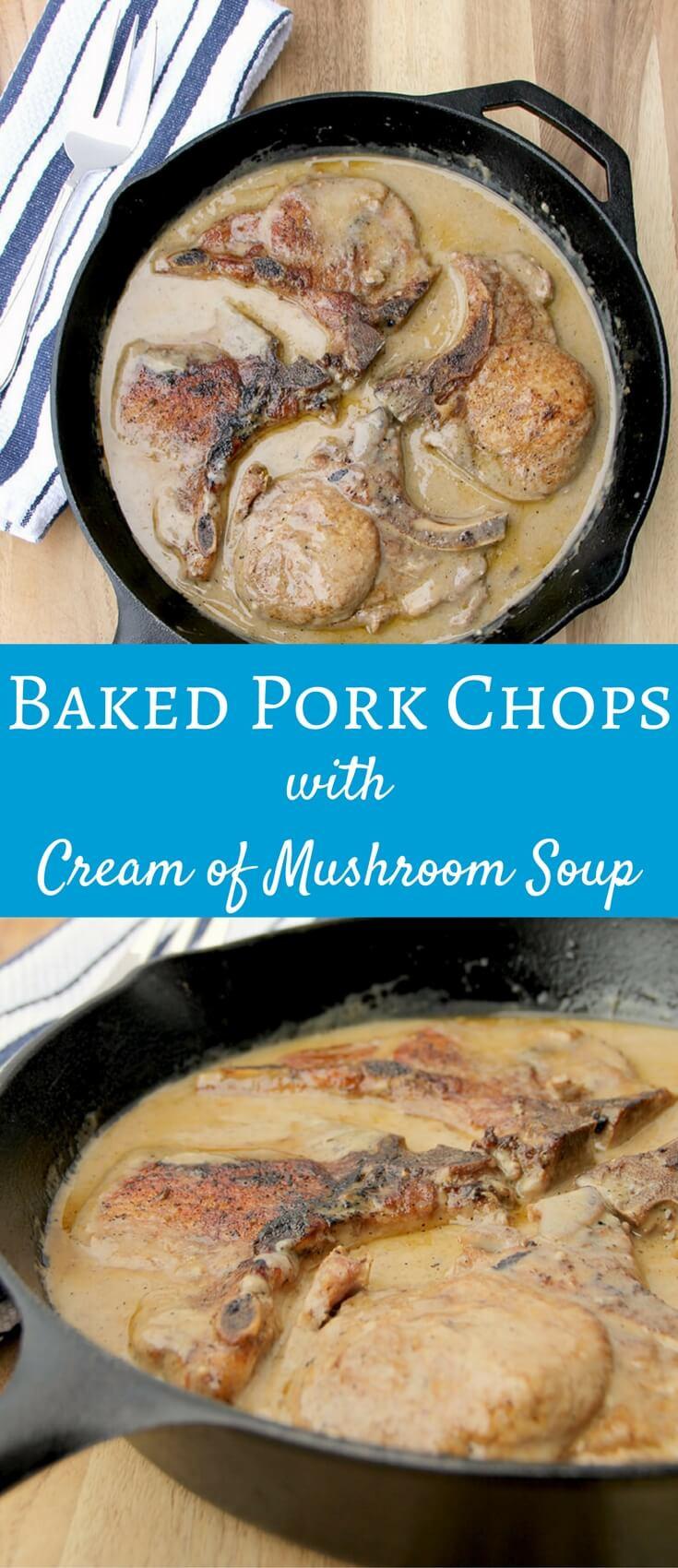 Pork Chops And Rice Cream Of Mushroom  pork chops with cream of mushroom soup in oven with rice