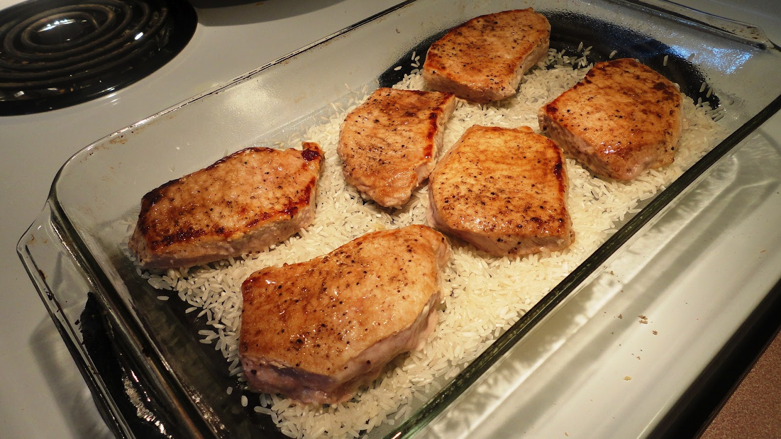 Pork Chops Baked  The Recipe Seeker Baked Pork Chop Cacciatore