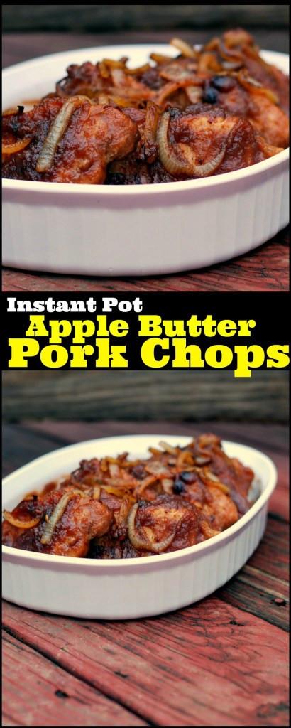 Pork Chops In Instant Pot  Instant Pot Apple Butter Pork Chops Aunt Bee s Recipes