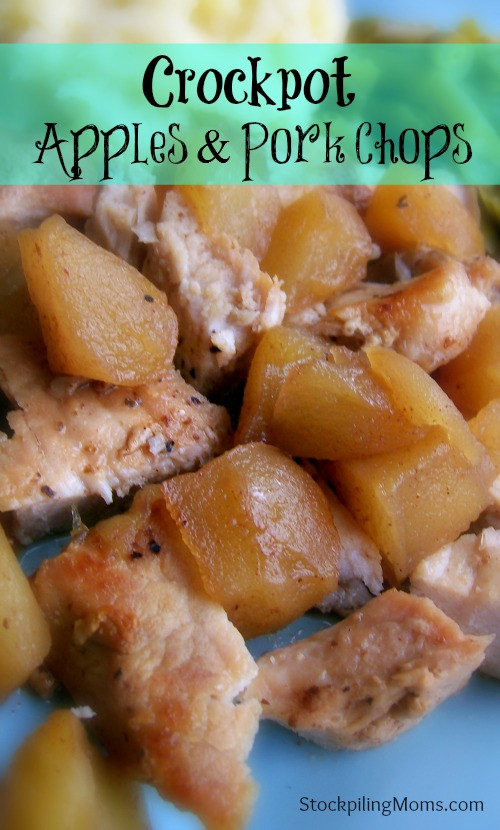 Pork Chops In The Crockpot  sweet and hot apple slow cooker pork