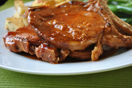 Pork Chops In The Slow Cooker  Slow Cooker BBQ Pork Chops Mac Molly
