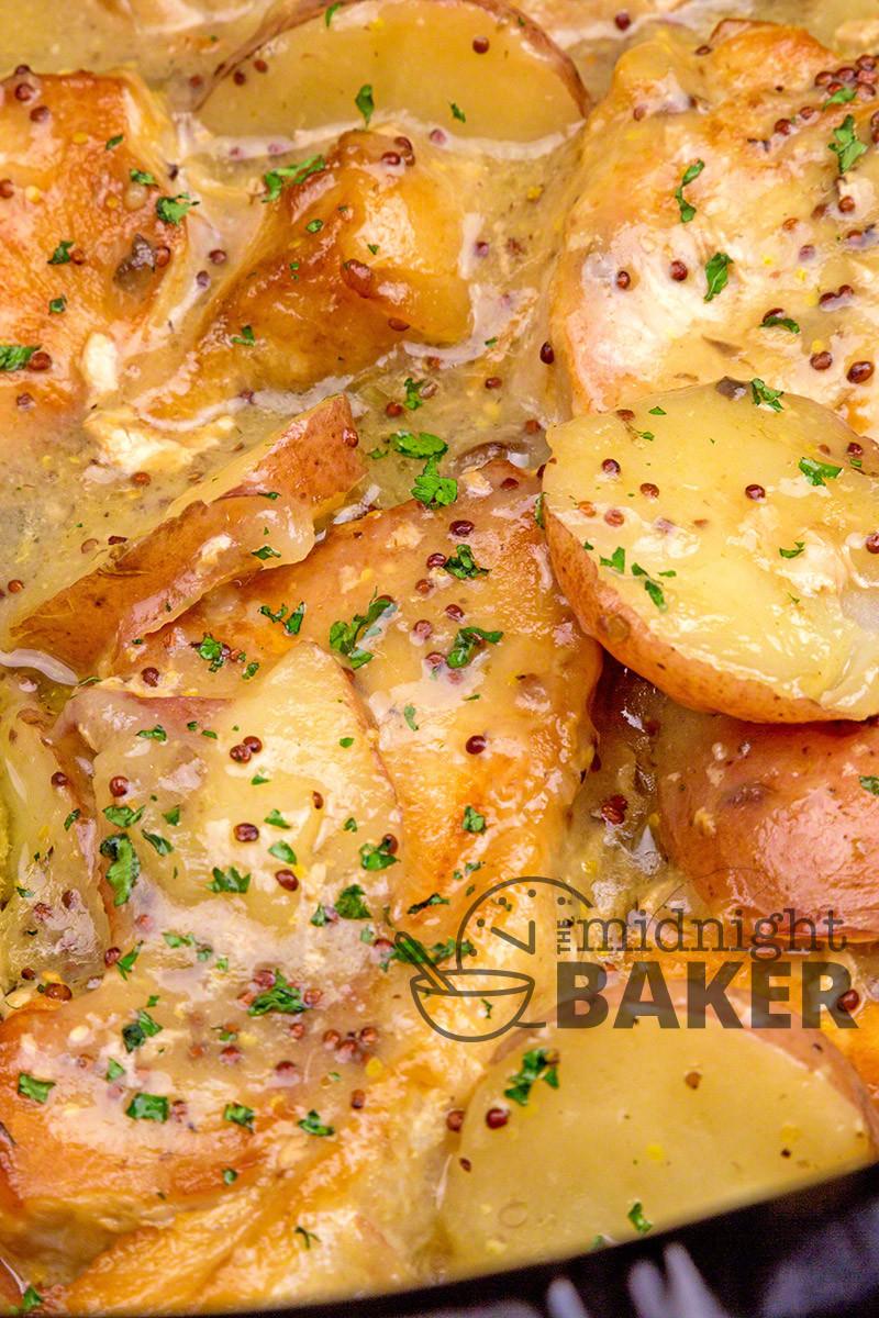 Pork Chops In The Slow Cooker  Slow Cooker Dijon Pork Chops & Potatoes The Midnight Baker
