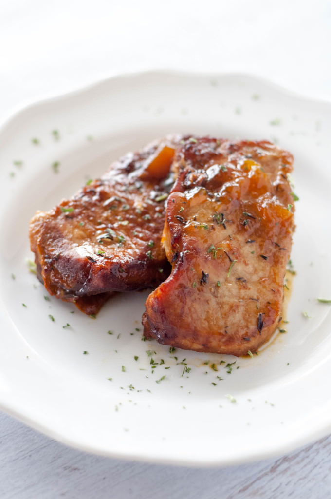 Pork Chops In The Slow Cooker  Slow Cooker Peach Glazed Pork Chops Slow Cooker Gourmet