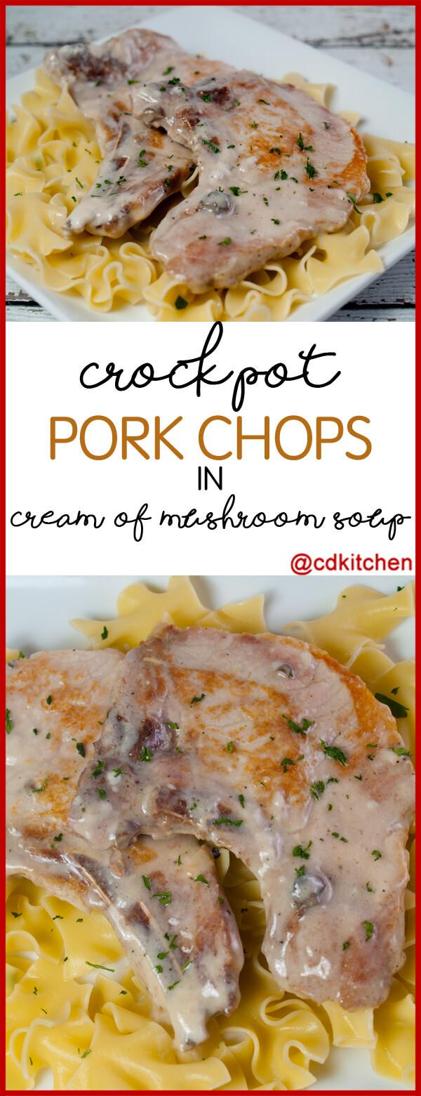 Pork Chops With Cream Of Mushroom Soup  pork chop stuffing cream of mushroom soup