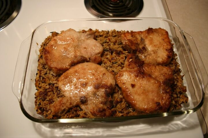 Pork Loin Chops Recipes  Baked Pork Loin Chops With Orange Rice Recipe