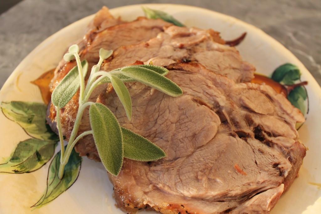 Pork Loin End Roast  Roasted Rib End Pork Loin Roast with ion Bacon Sage