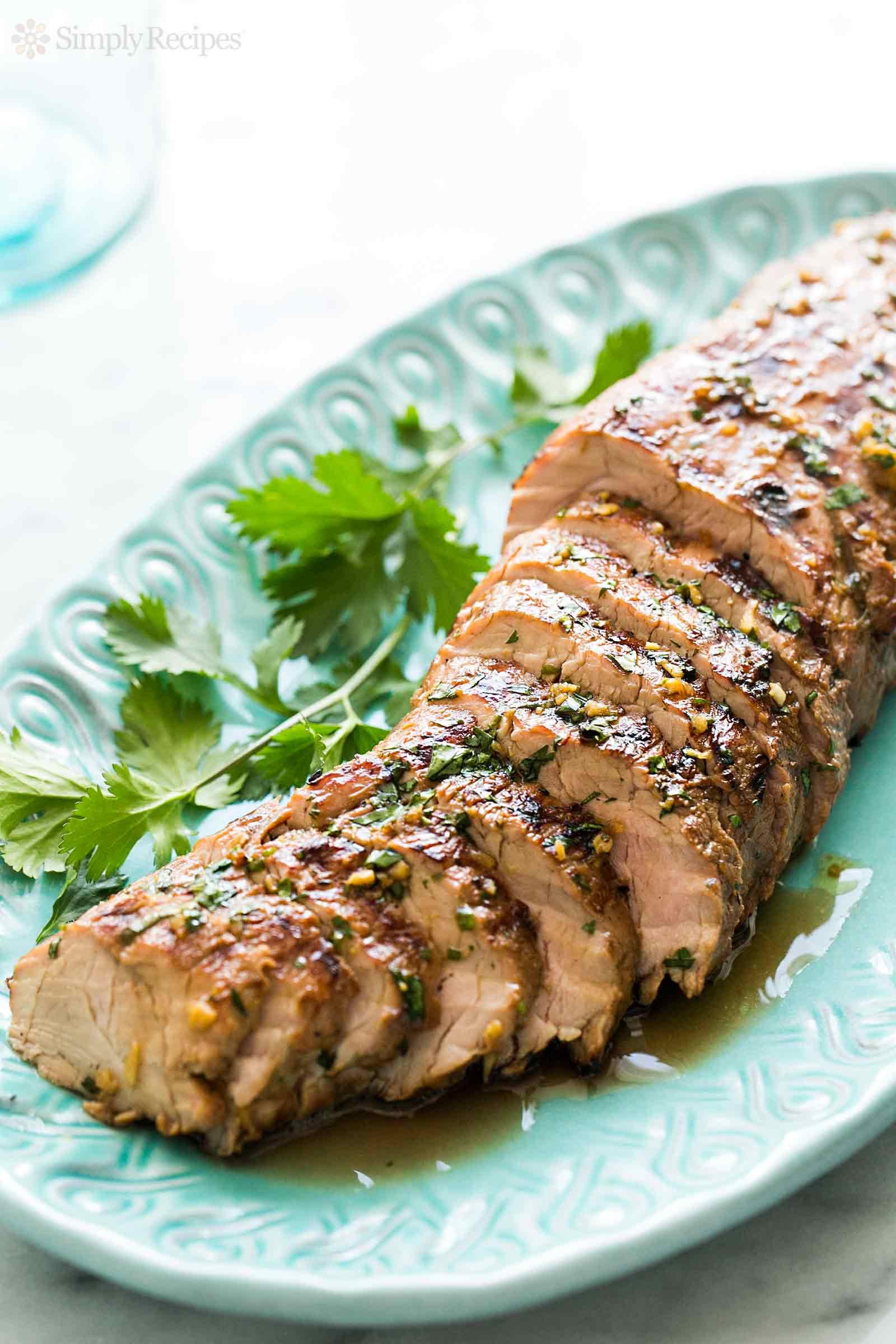 Pork Loin Grilled  grilled pork tenderloin marinade mustard