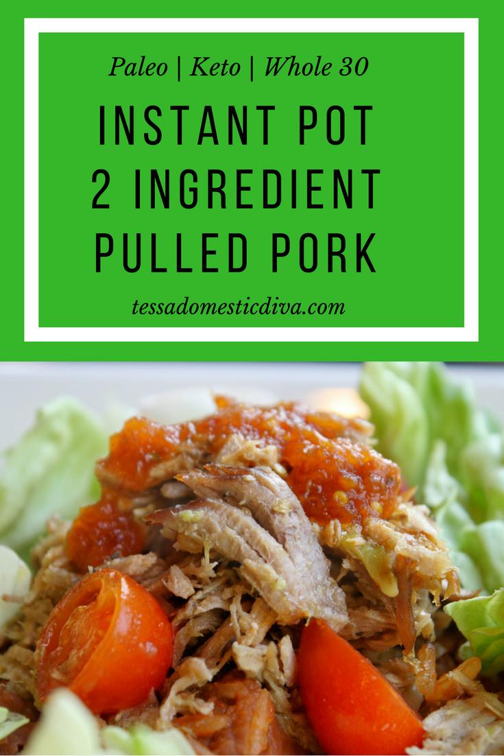 Pork Loin Instant Pot Paleo  Quick & Easy 2 Ingre nt Pulled Pork for Tacos Paleo