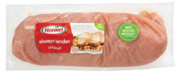 Pork Loin Nutrition  Hormel Always Tender Extra Lean Center Cut Original Pork