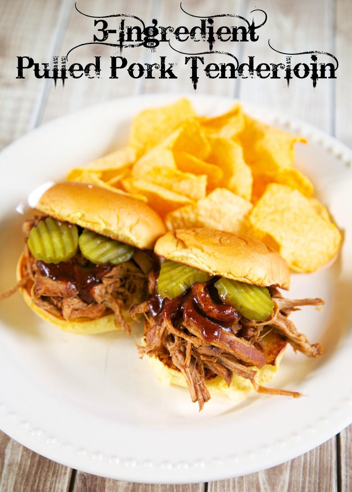 Pork Loin Pulled Pork  3 Ingre nt Pulled Pork Tenderloin Slow Cooker Plain
