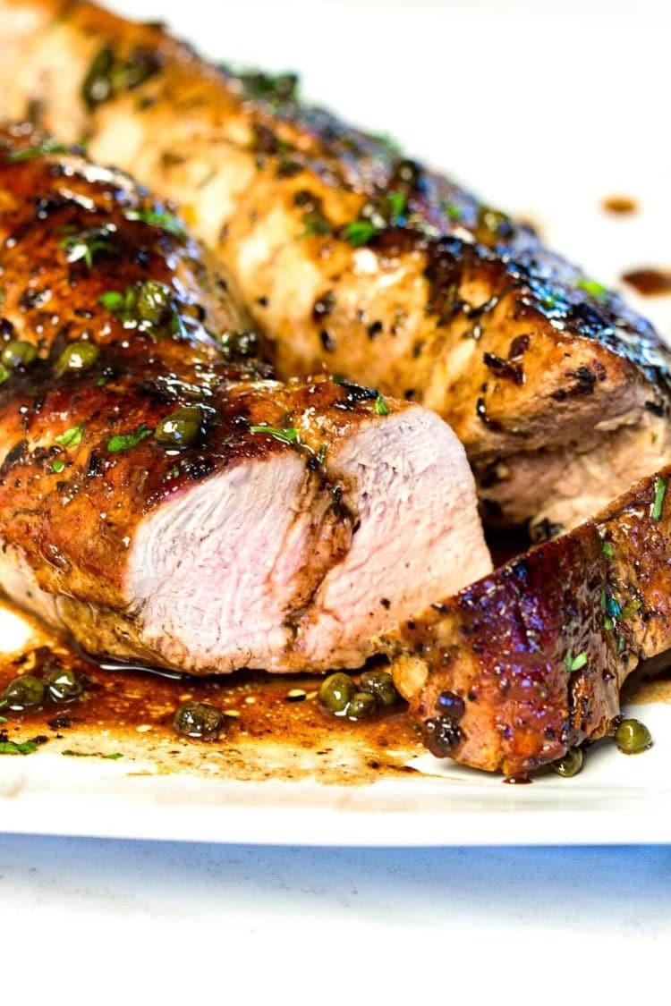 Pork Loin Recipes  Balsamic Roast Pork Tenderloin Kevin Is Cooking