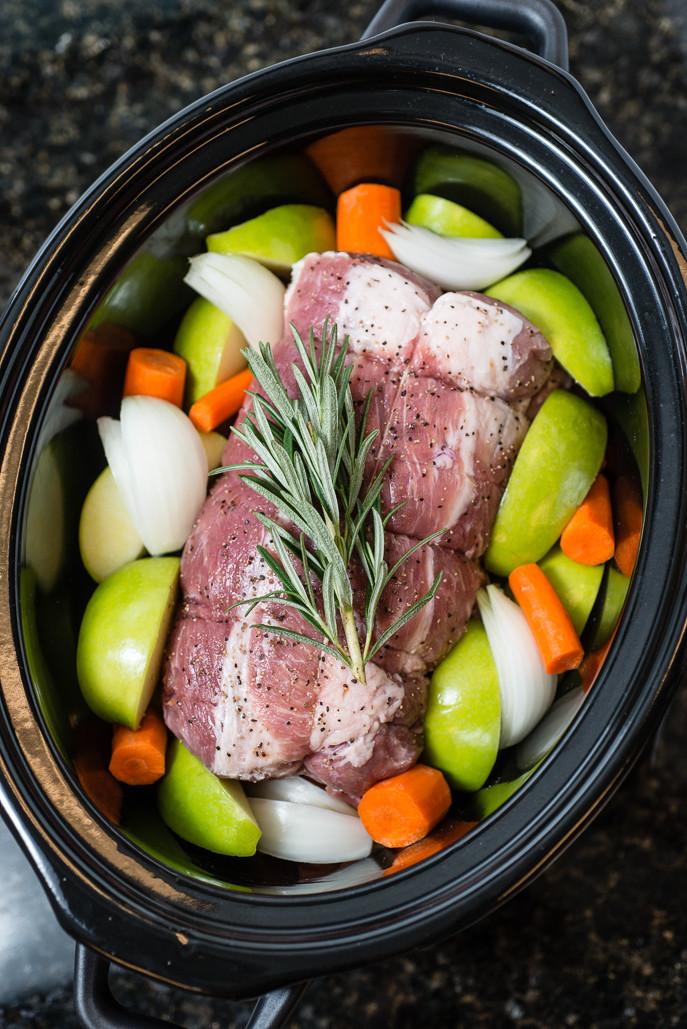 Pork Loin Roast Recipe Slow Cooker With Vegetables  Slow Cooker Pork Loin Roast with Apples